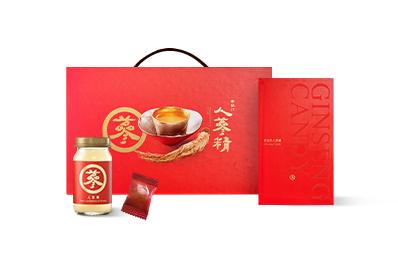 人蔘精禮盒(7入)5盒【贈人蔘糖禮盒(40入)】