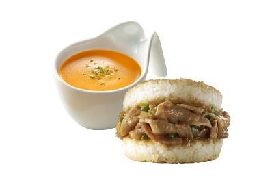 薑燒豬肉米堡(12入)+波士頓龍蝦濃湯(12入)
