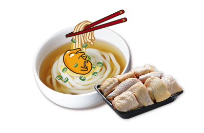 蛋黃哥熬湯麵(6人份) +台灣人氣土雞(已分切)