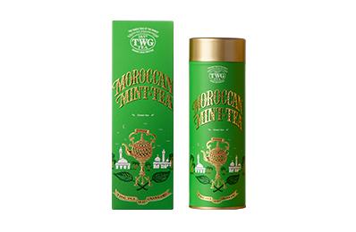 TWG TEA 摩洛哥薄荷綠茶緞帶禮盒 / 單罐【附提袋】