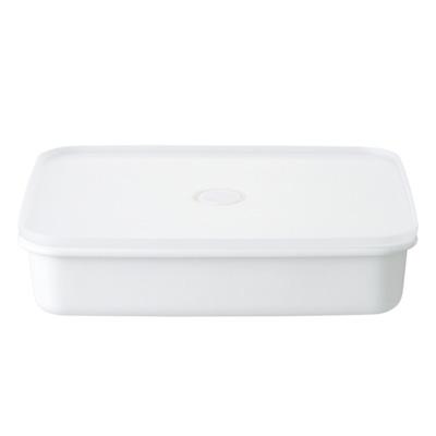 無印良品MUJI 密閉式琺瑯保鮮盒/大