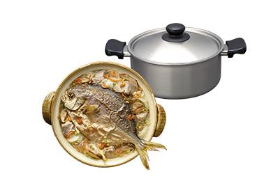 富貴鯧魚鍋+柳宗理不銹鋼雙耳鍋優惠套組(鍋7天內另配送)