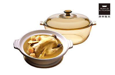 【OCD018干貝熬雞湯】干貝熬雞湯+康寧晶寶鍋(4L)優惠套組