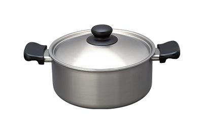 柳宗理不銹鋼雙耳鍋經典款(22cm淺型/附鍋蓋)